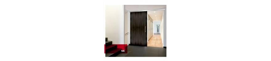 Guia puerta corredera de madera