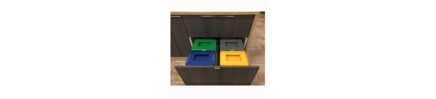 Cubos para reciclaje